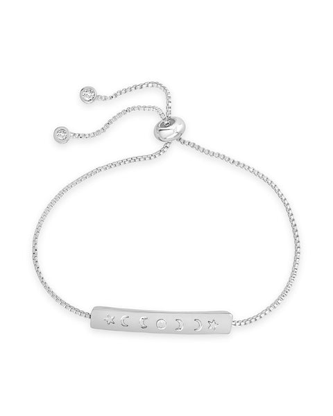 Moon Phase Slider Bracelet - Sterling Forever