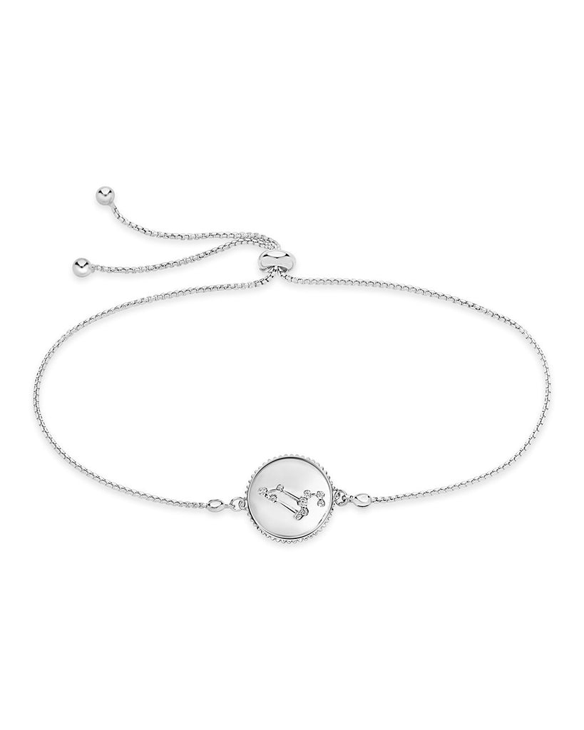 Sterling Silver Constellation Disk Bolo Bracelet Bracelet Sterling Forever Silver Leo (Jul 23 - Aug 22)