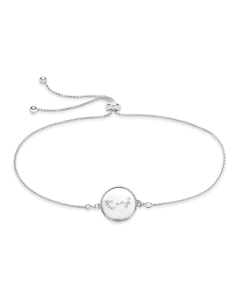 Sterling Silver Constellation Disk Bolo Bracelet Bracelet Sterling Forever Silver Scorpio (Oct 23 - Nov 21)