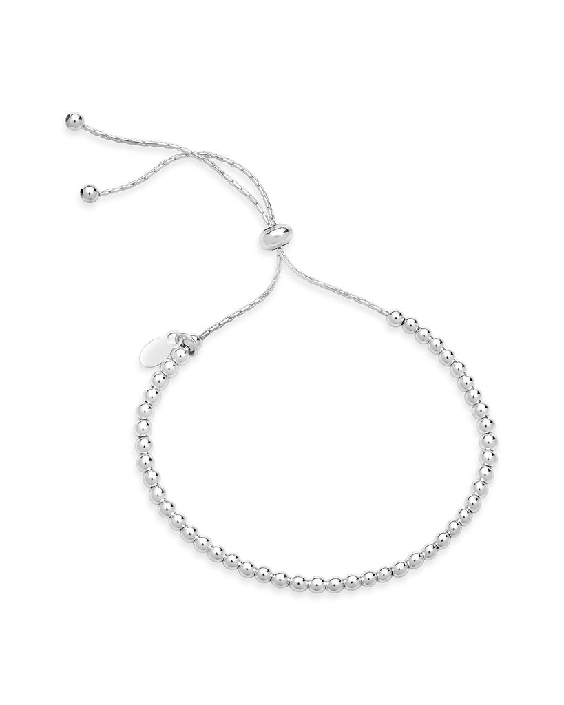 Beaded Slider Bracelet - Sterling Forever