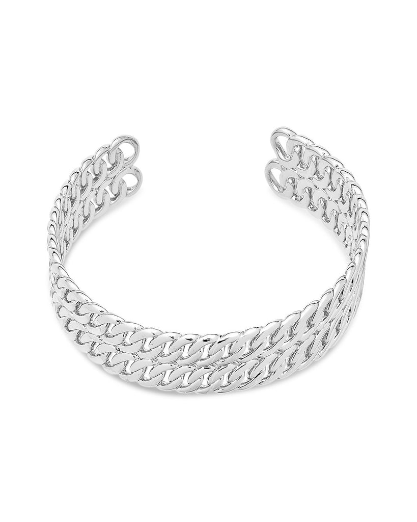 Double Rope Chain Cuff Bracelet Sterling Forever