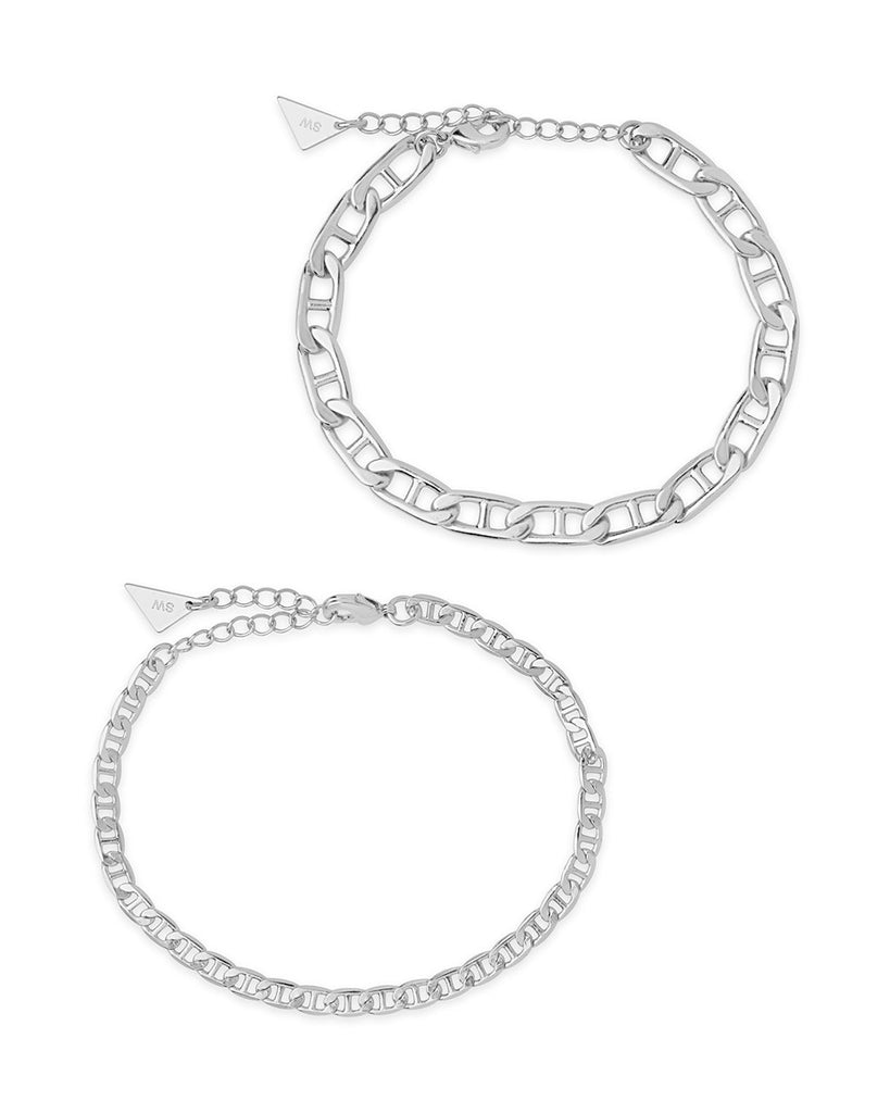 Anchor Chain Bracelet Set Bracelet Sterling Forever