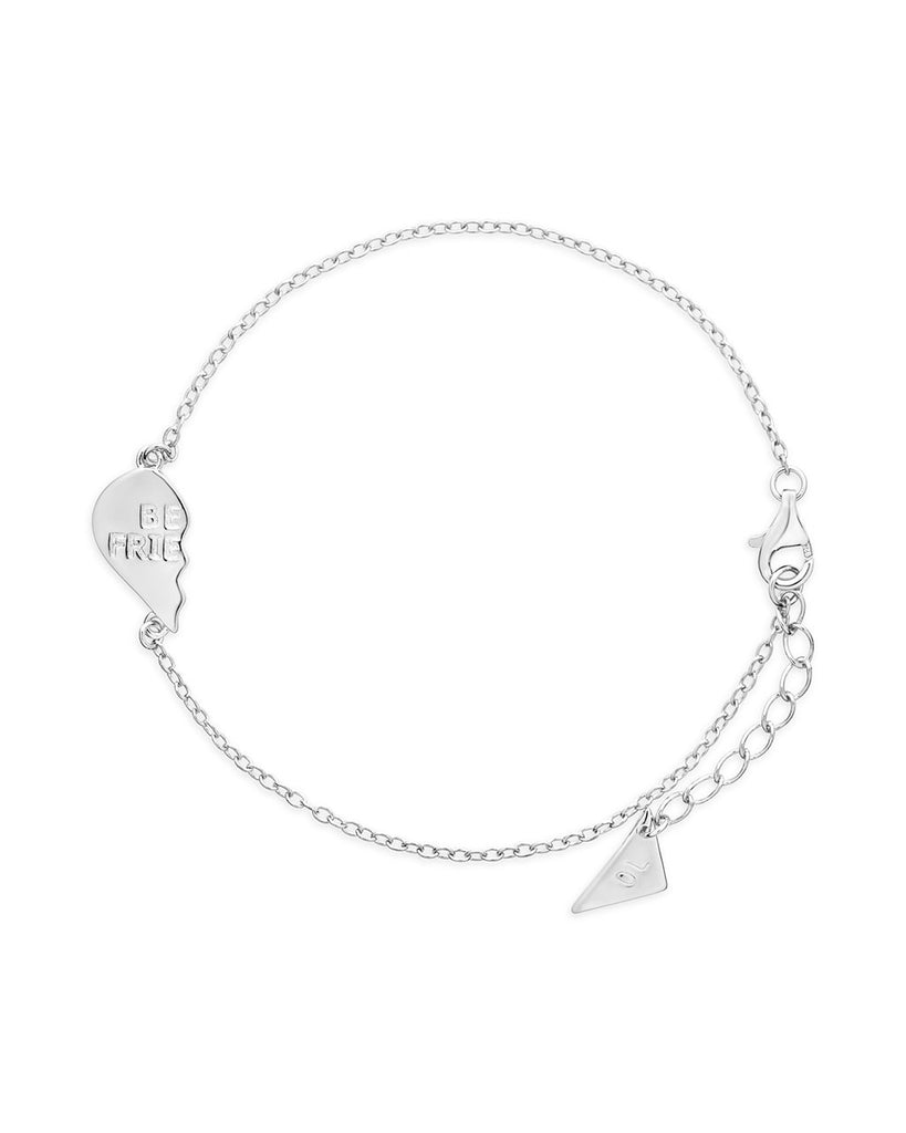 Sterling Silver Best Friends 2 Pc Bracelet Set Bracelet Sterling Forever