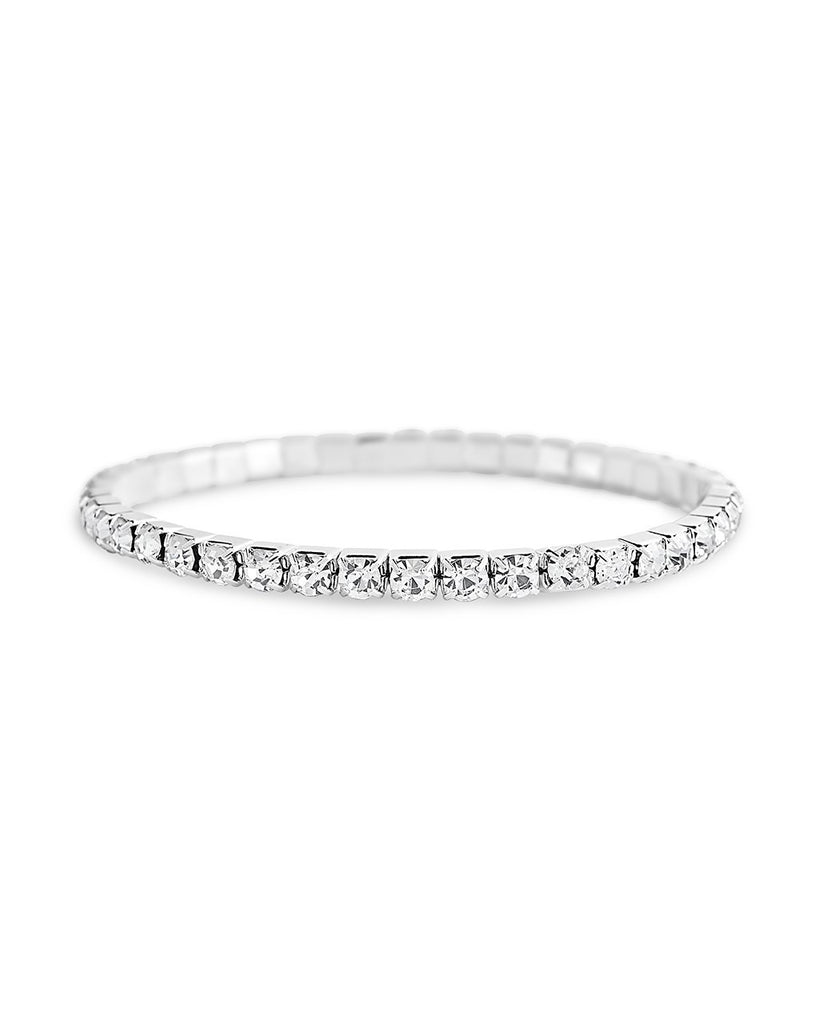 Single Row CZ Stretch Bracelet - Sterling Forever
