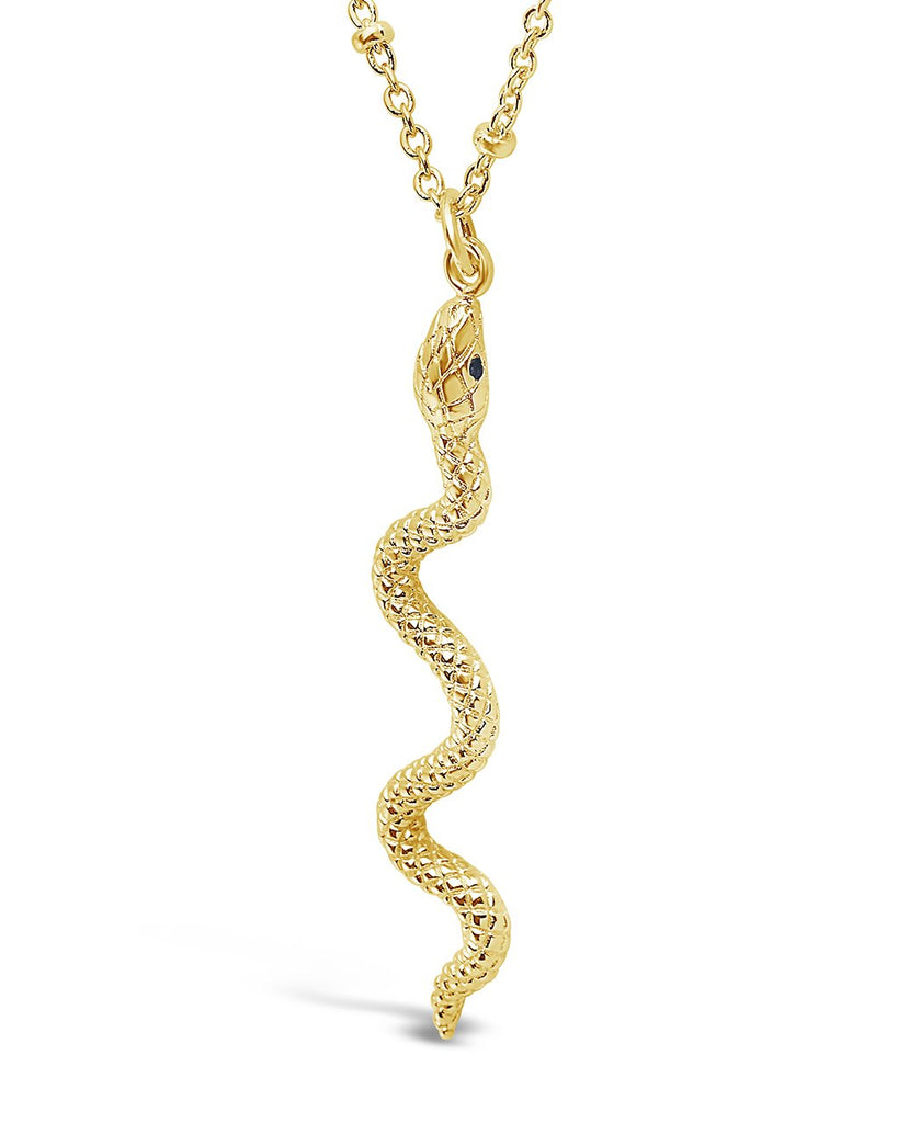 Scaly Snake Pendant Necklace - Sterling Forever