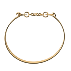 Gold Open Triangle Chain Bangle