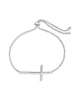 Polished Cross Bolo Bracelet - Sterling Forever