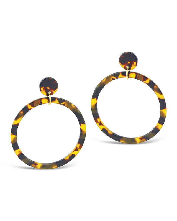 "2.5"" Resin Stud Hoop Earrings - Sterling Forever"