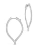 CZ Inside Out Teardrop Drop Earrings Earring Sterling Forever Silver
