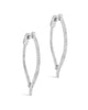 CZ Inside Out Teardrop Drop Earrings Earring Sterling Forever