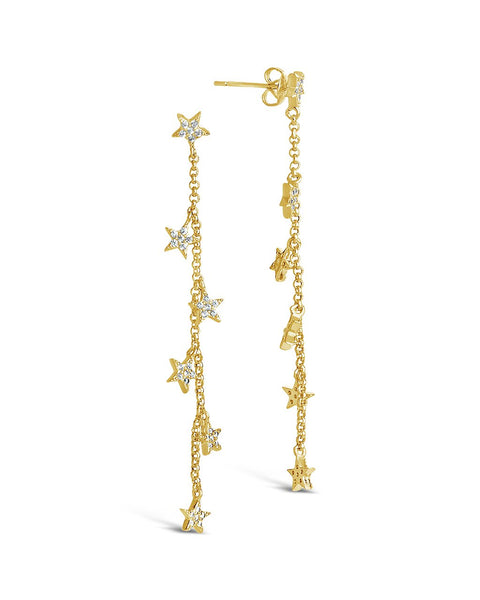 CZ Star Drop Earrings - Sterling Forever