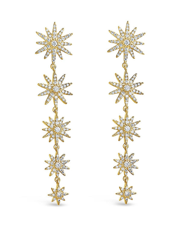 CZ Burst Drop Earrings - Sterling Forever