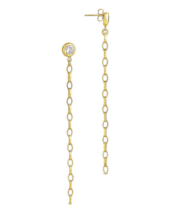 Diamond Chain Dangle Studs Earring Sterling Forever