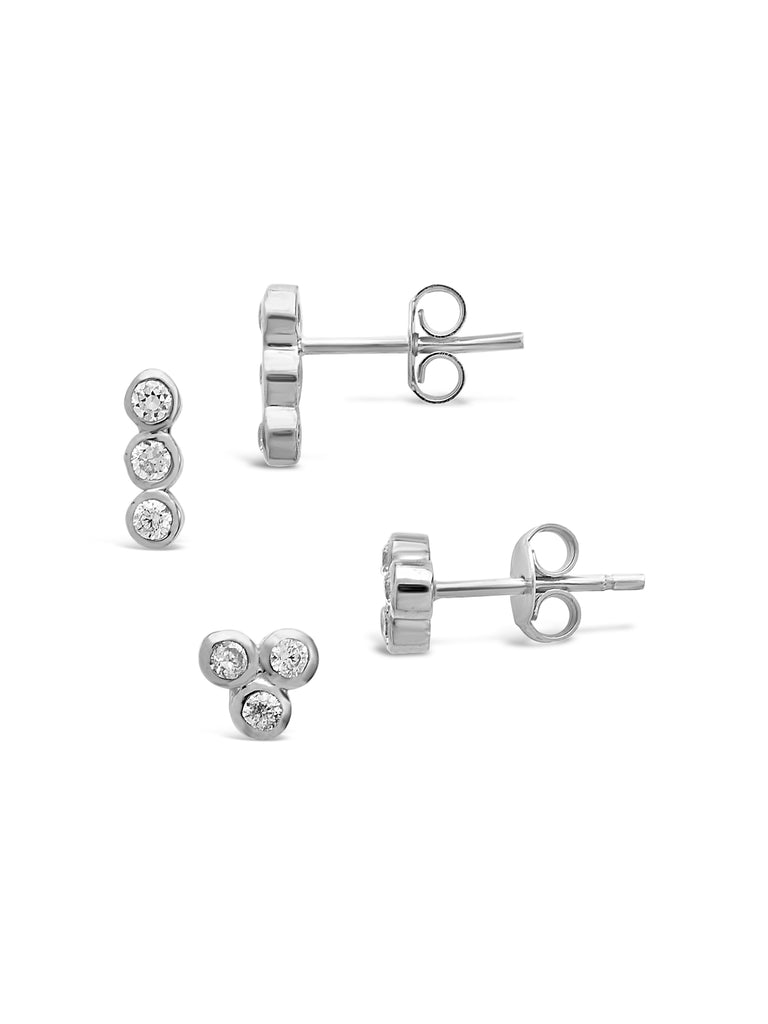 Sterling Silver 2pc Bezel Earring Set - Sterling Forever