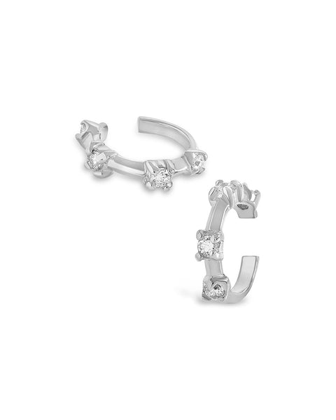 Sterling Silver Boho CZ Ear Cuff Set - Sterling Forever