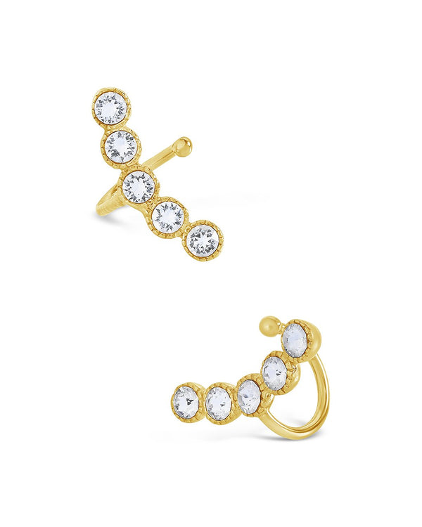 Sterling Silver CZ Bubbles Ear Cuff - Sterling Forever