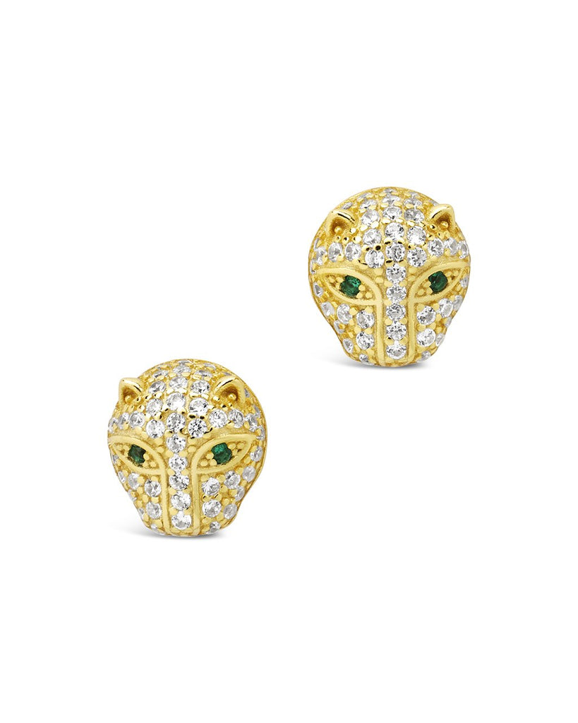 Sterling Silver Jaguar CZ Studs Earring Sterling Forever Gold
