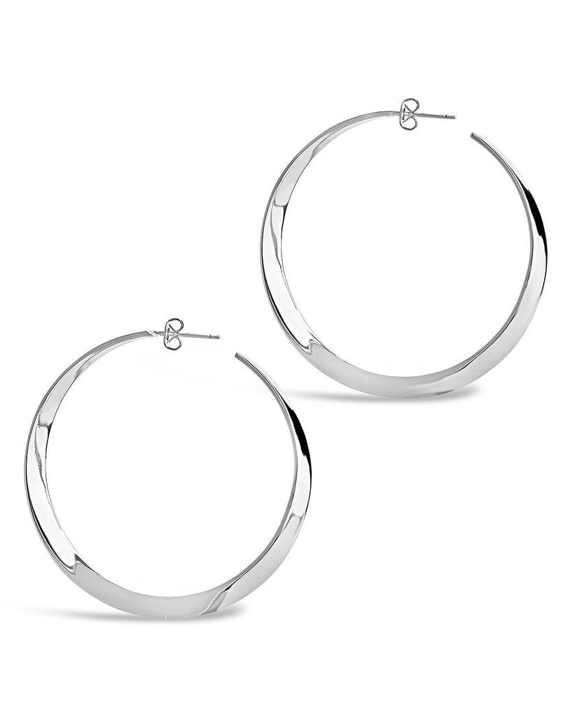 Graduated Twist Hoops - Sterling Forever