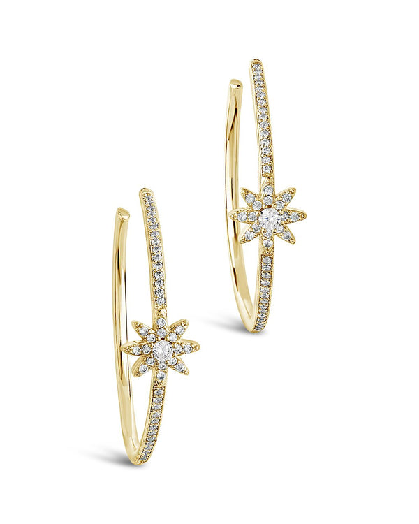 CZ Burst Hoops - Sterling Forever
