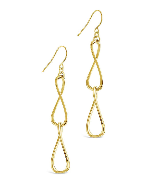 Twisted Link Drop Earrings - Sterling Forever