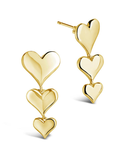 Graduated Heart Drop Studs Earring Sterling Forever