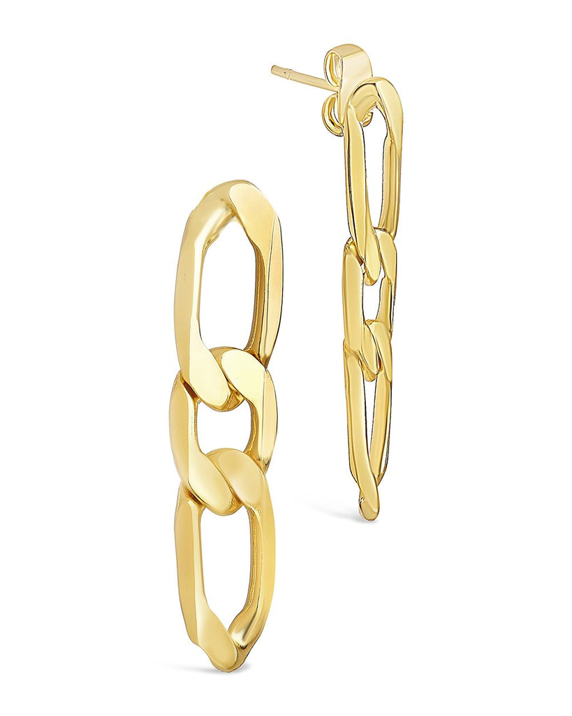 Linked Chain Drop Stud Earring Sterling Forever