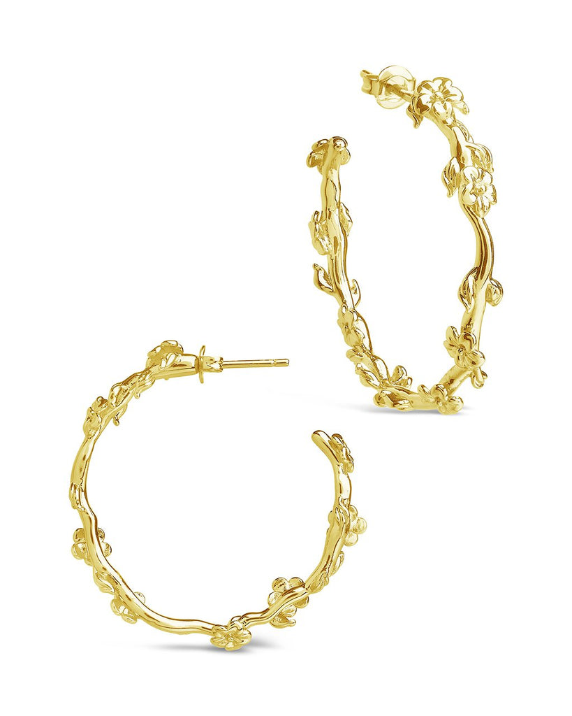 Blossom Hoops Earring Sterling Forever Gold