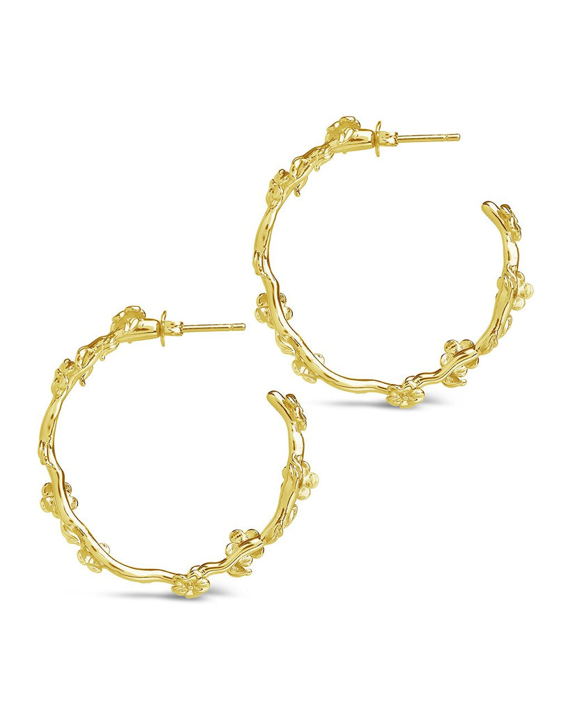 Blossom Hoops Earring Sterling Forever