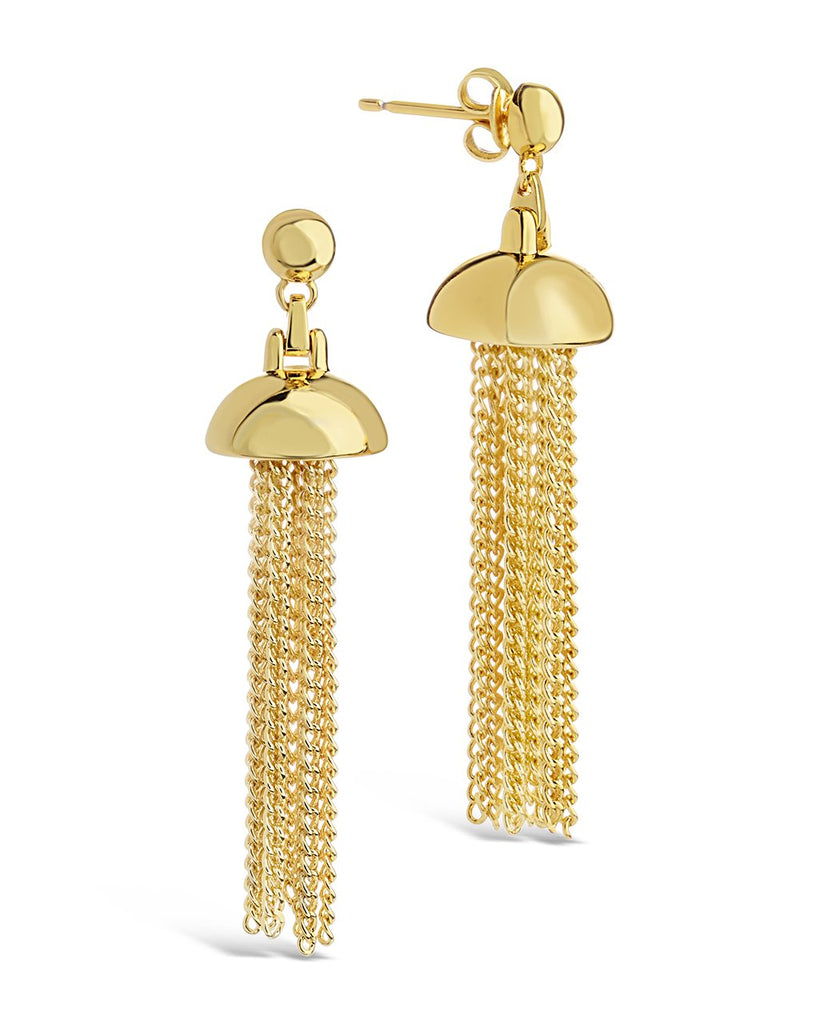 Chain Tassel Dangle Studs Earring Sterling Forever