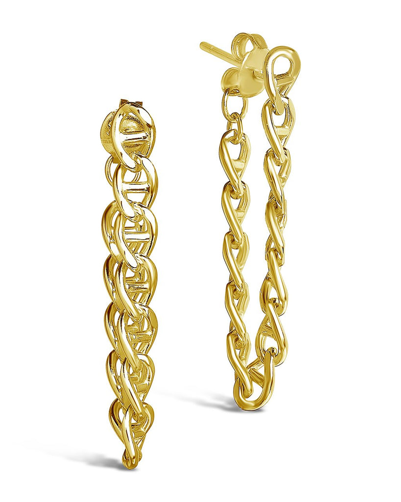 Anchor Chain Drop Studs Earring Sterling Forever