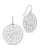 Round Filigree Dangle Earrings - Sterling Forever