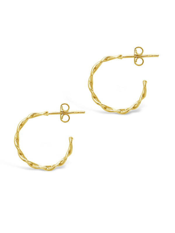 Sterling Silver Open Rope Hoop Earrings - Sterling Forever