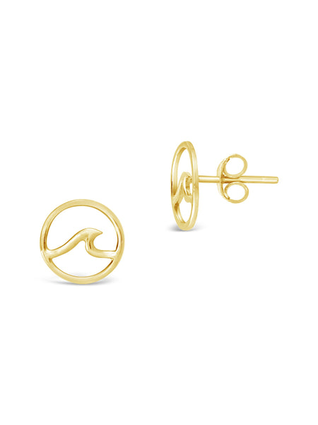 Sterling Silver Wave Studs Earring Sterling Forever