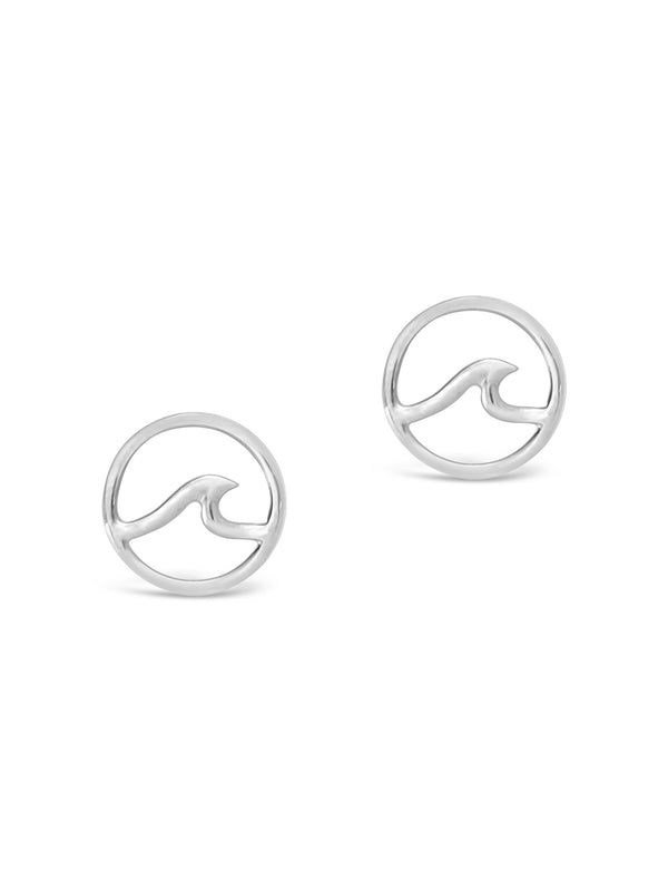 Sterling Silver Wave Studs - Sterling Forever