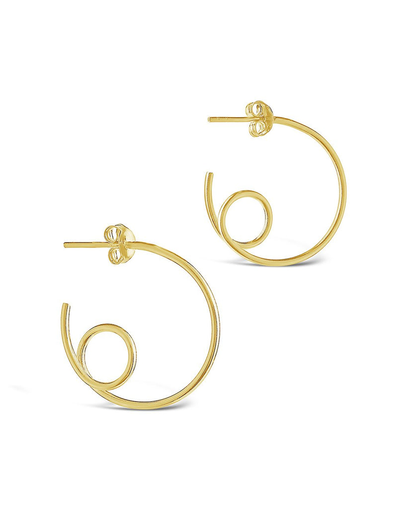 Sterling Silver Loop Hoops - Sterling Forever