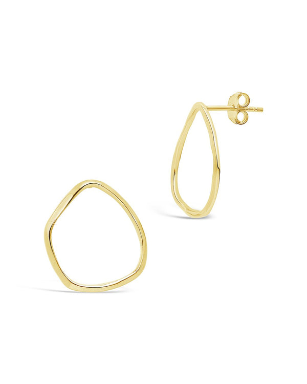 Sterling Silver Organic Circle Studs - Sterling Forever