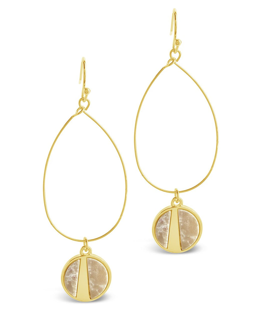 Geo Stone Dangle Earrings - Sterling Forever