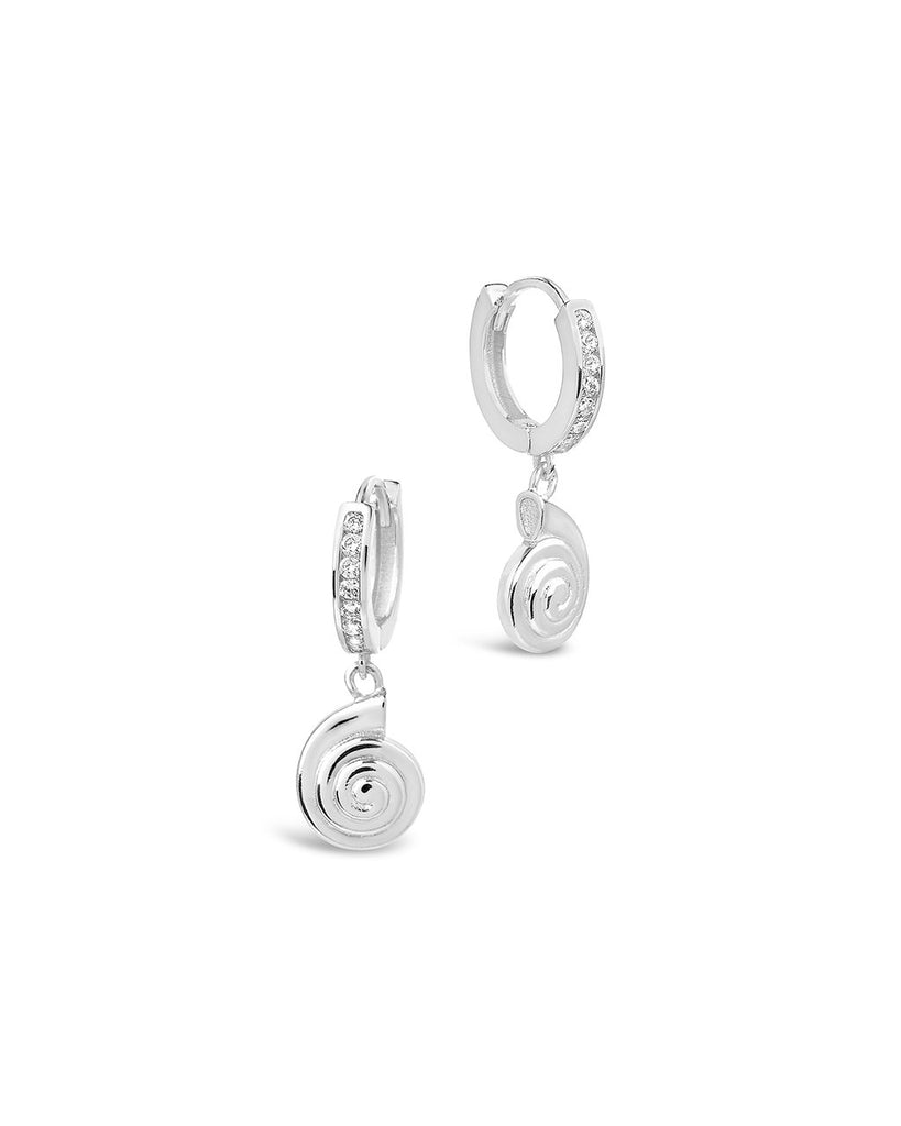 Shark Eye Micro Hoops - Sterling Forever