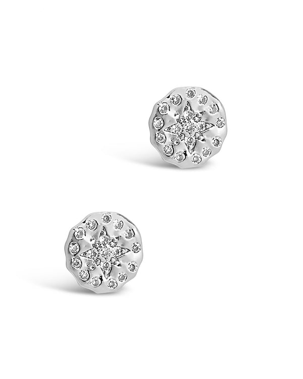 CZ Northern Star Studs Earring Sterling Forever Silver
