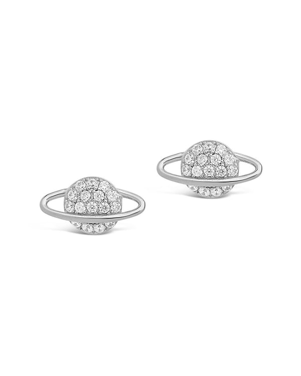 CZ Saturn Studs - Sterling Forever