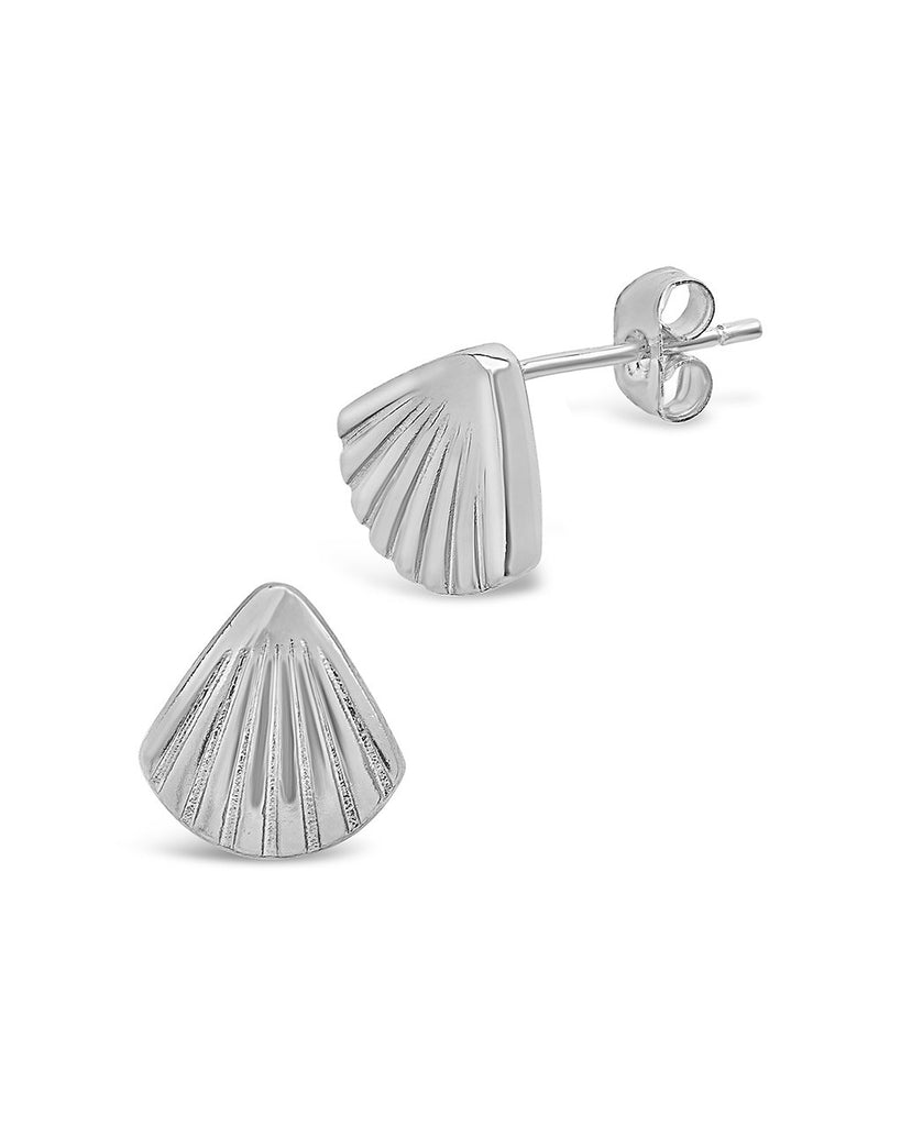 Scallop Shell Studs - Sterling Forever