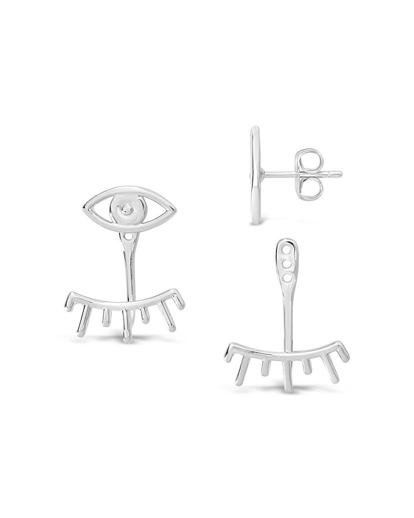Evil Eye Jacket Earrings - Sterling Forever