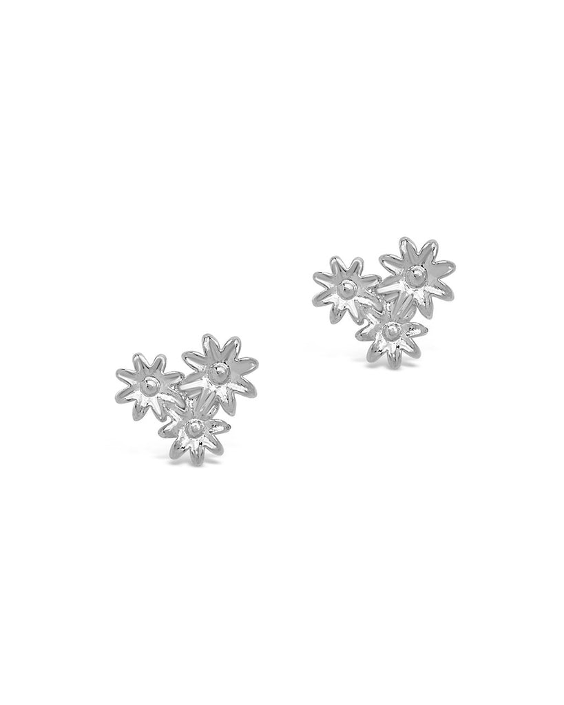 Multi Flower Stud Earrings - Sterling Forever