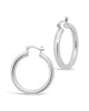 "Chunky Tube Hoops Earring Sterling Forever Silver Large (1.25"")"