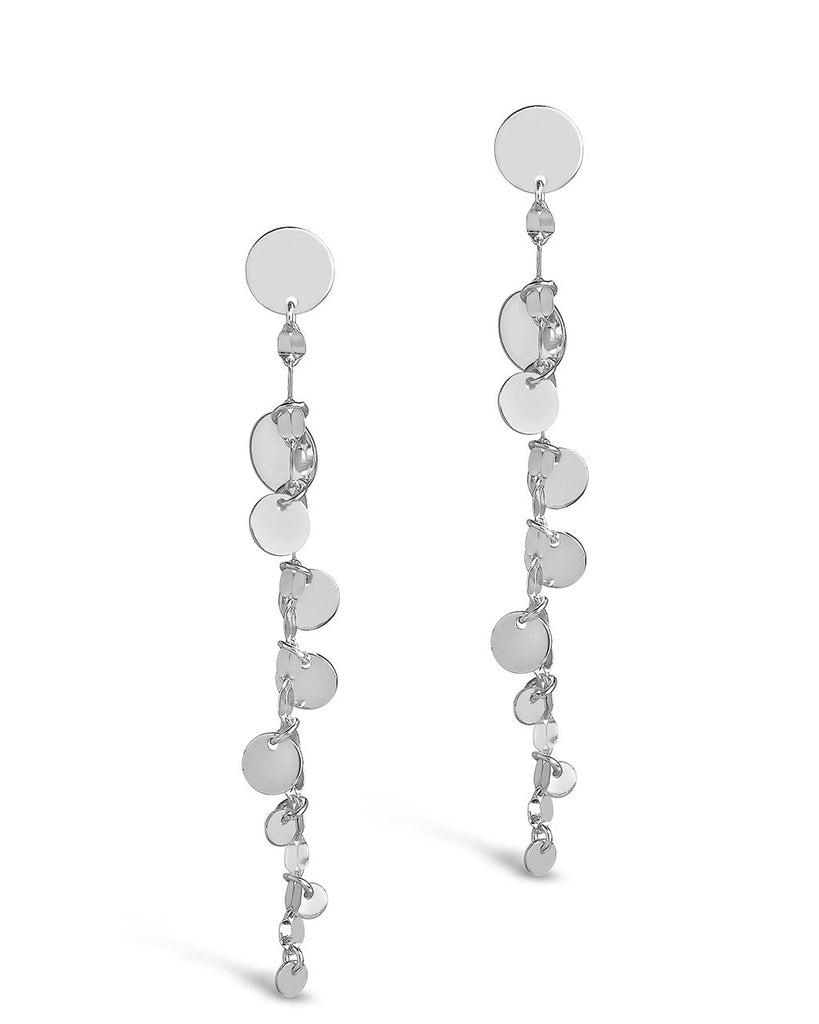Sterling Silver Graduated Disk Drop Studs Earring Sterling Forever Silver