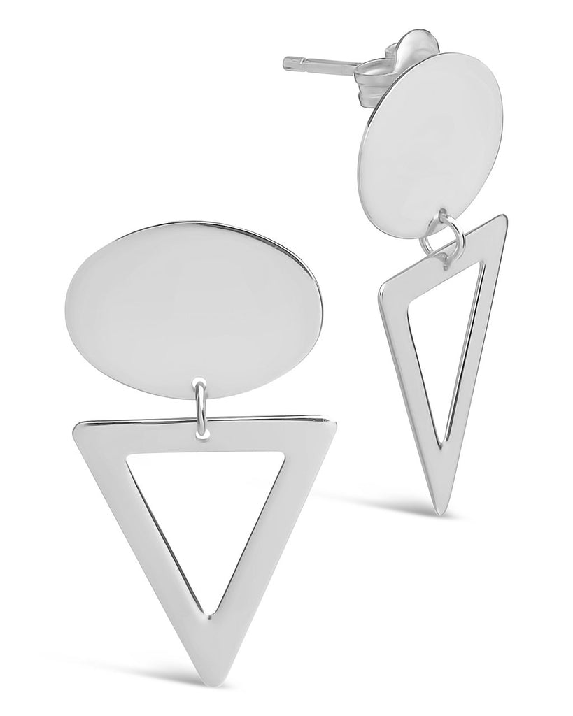 Sterling Silver Open Triangle Drop Studs Earring Sterling Forever
