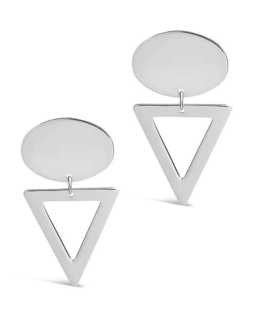 Sterling Silver Open Triangle Drop Studs Earring Sterling Forever Silver