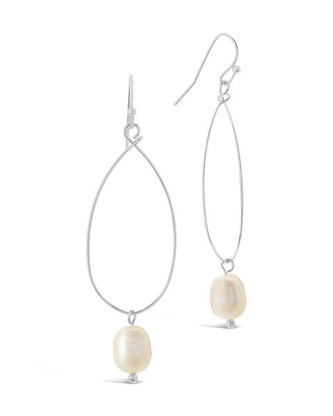 Teardrop Pearl Dangle Earrings - Sterling Forever