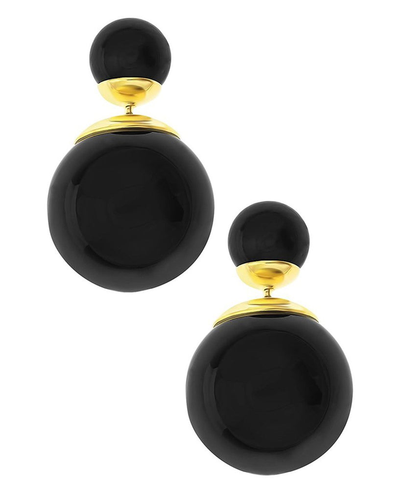 Double Sided Studs Earring Sterling Forever Black