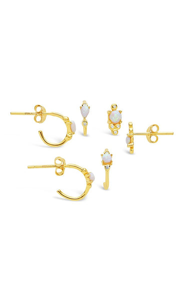Eyes Ablaze 3pc Earring Set - Sterling Forever